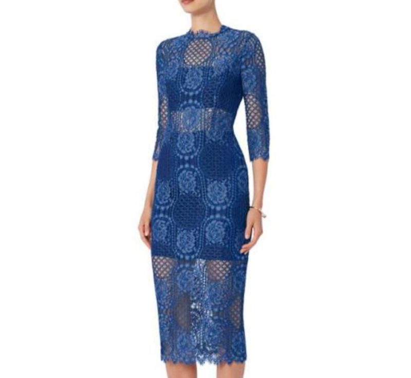 Alexis Blue Miller Lace Sheath Dress All The Dresses