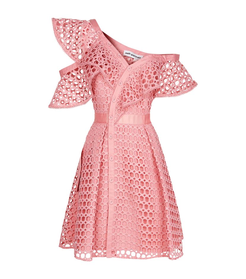 Self Portrait Ruffle Mini Dress Pink All The Dresses