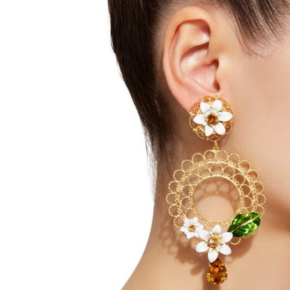 Dolce Gabbana Daisy Clip on earrings rent hire