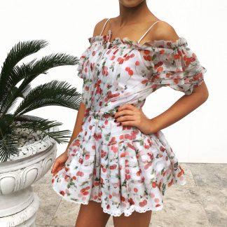 Dolce Gabbana Silk Cherry Dress Hire Rent