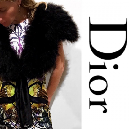 Dior Bolero Marabou Ostrich Feather Hire Rent