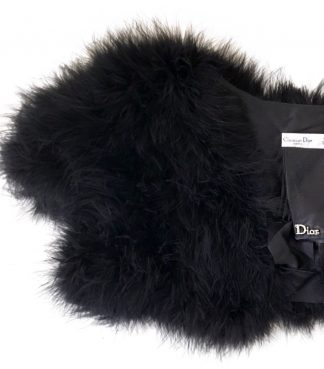 Dior Bolero Marabou Ostrich Feather Hire Rent