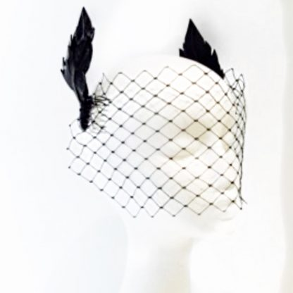 Keegan Mae Millinery Freya Black Rent Hire