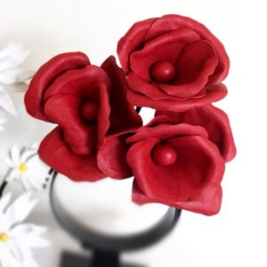 Millinery Jill Poppies Red Hire Rent