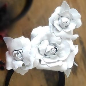 Millinery Jill Roses White Hire Rent