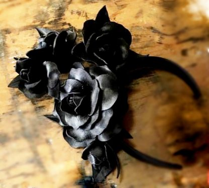 Millinery Jill Roses Black Hire Rent