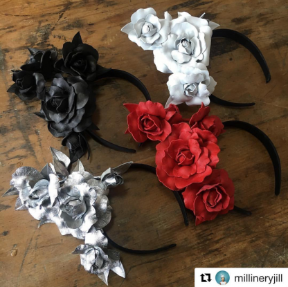 Millinery Jill Roses Hire Rent