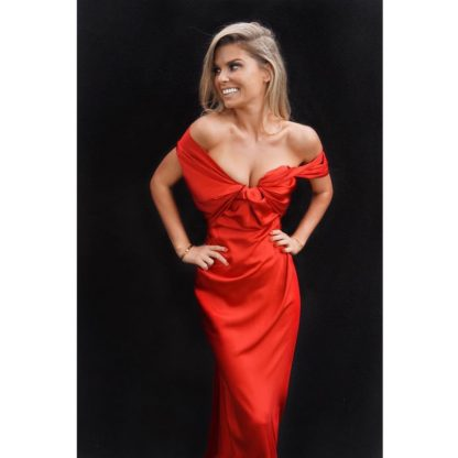 Vivienne Westwood Red Satin Gown Hire Rent