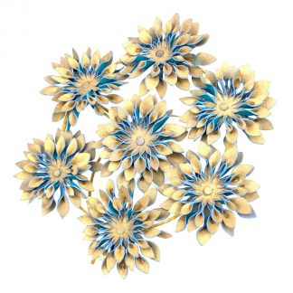 Murley & Co Millinery Floral Disc Blue Rent Hire