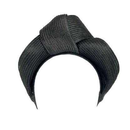 Murley & Co Millinery Turban Black Rent Hire