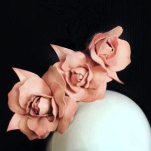 Millinery Jill Roses Blush Pink Rent Hire