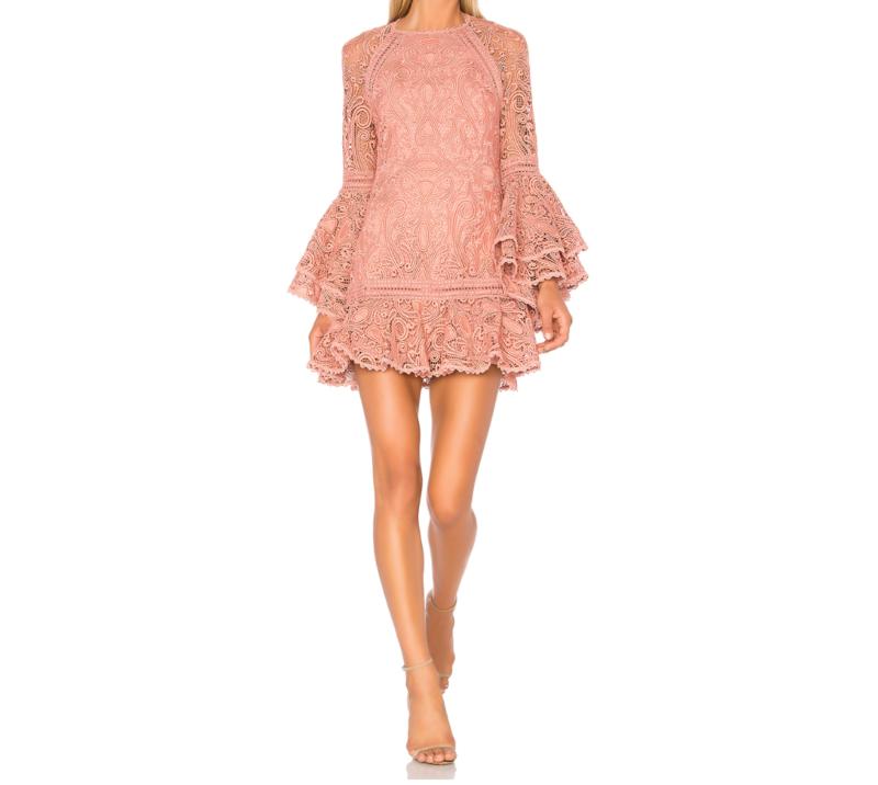 ALEXIS Veronique Dress, Blush Pink | Designer Dress Hire Australia
