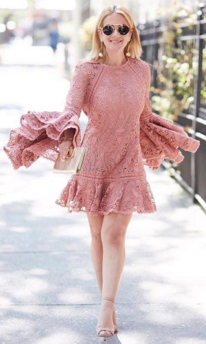 Alexis Veronique Pink Dress Hire Rent
