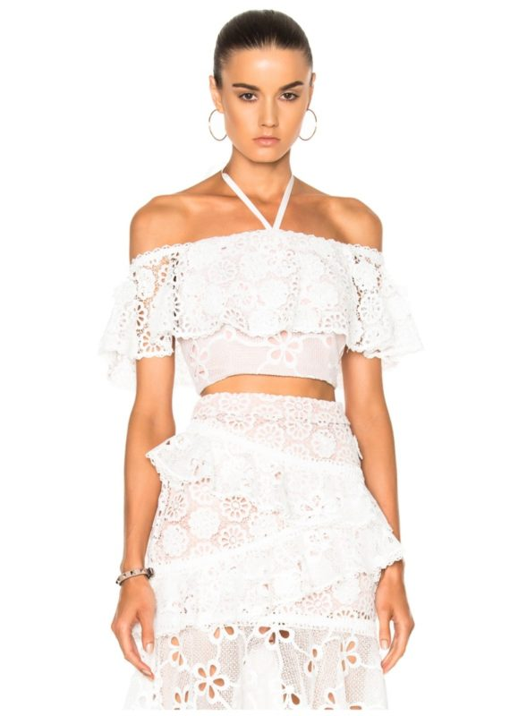 alexis  white two piece set  skirt  top  designer