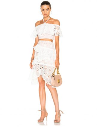 Alexis two piece set top skirt dress hire rent