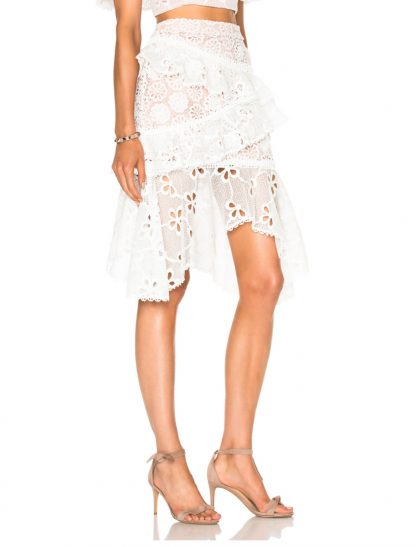 Alexis two piece set top skirt dress hire rent