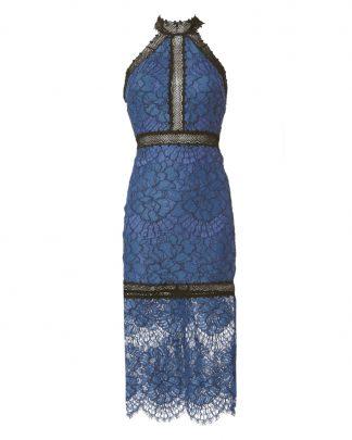 Alexis Julianna Blue Lace Dress Rent Hire