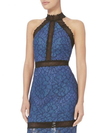 Alexis Julianna Blue Lace Dress Rent Hire Marlowe