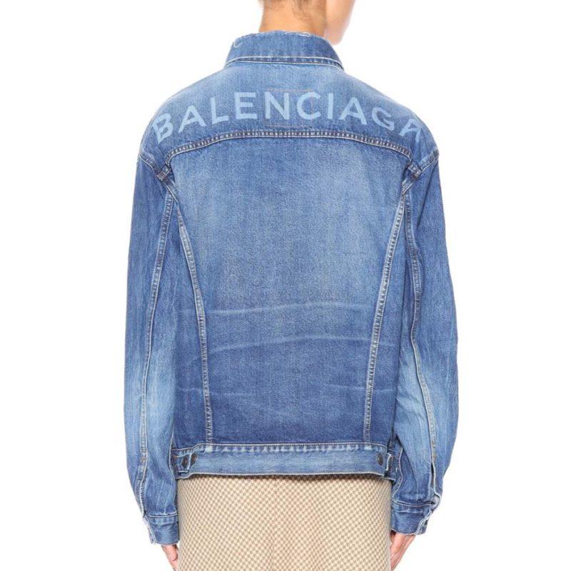 13278f9fae4 BALENCIAGA Logo Denim Jacket