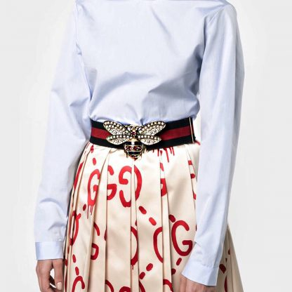 Gucci bee web belt rent hire