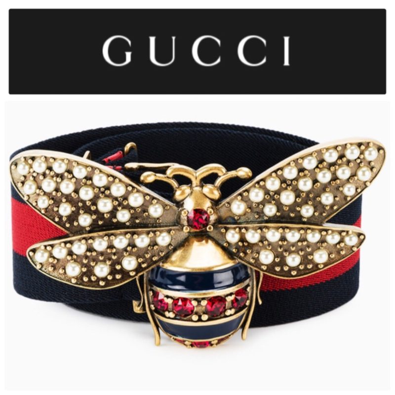 6e9ea6f2c7d GUCCI Crystal   Pearl Bee Web Belt