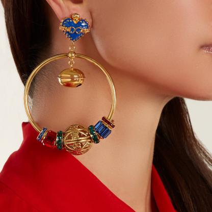 Dolce Gabbana Hoop Earring Bell Rent Hire