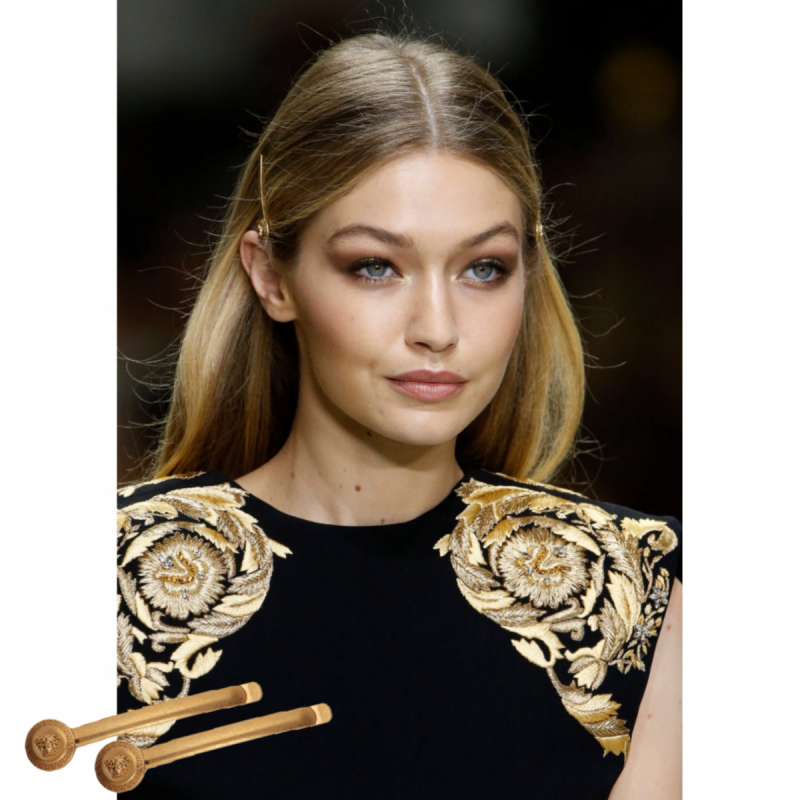 Versace Medusa Iconic Hair Clips Gold All The Dresses