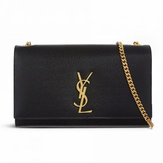 YSL Kate Bag Clutch Black Saint Laurent Rent Hire