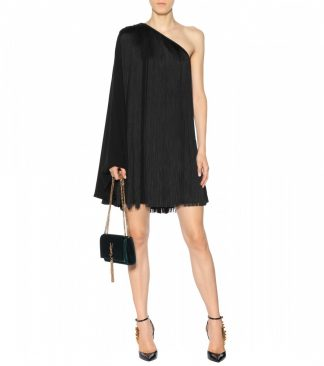 Saint Laurent YSL One Shoulder Fringe Dress Rent Hire