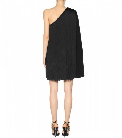 Saint Laurent YSL One Shoulder Fringe Dress Rent Hire