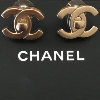 Chanel Gold Turnkey Earrings Rent Hire