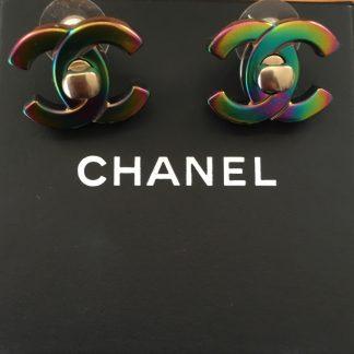Chanel Rainbow Turnkey Earrings Rent Hire