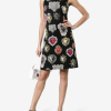 Dolce Gabbana Brocade Sacred Heart Dress Sleeveless Hire Rent