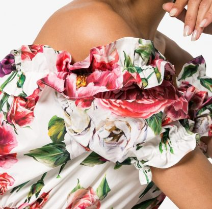 Dolce Gabbana Peony Dress Sleeveless Hire Rent