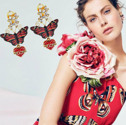 Dolce Gabbana Butterfly Earrings Rent Hire