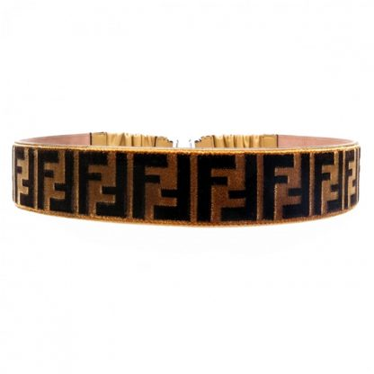 Fendi Logo Zucca Belt Rent Hire