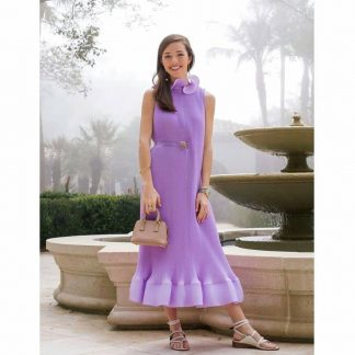 Tibi Lavender pleated dress hire rent