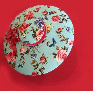DG x Murley Blue Floral Silk Brim