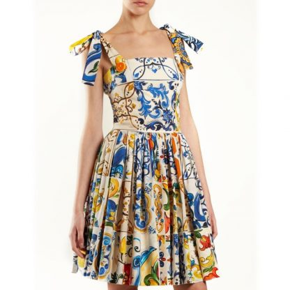 Dolce Gabbana Majolica Sun Dress Hire Rent