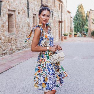 Dolce Gabbana Majolica Sun Dress Hire Rent