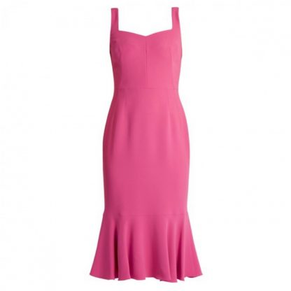 Dolce Gabbana Pink Crepe Dress Hire Rent