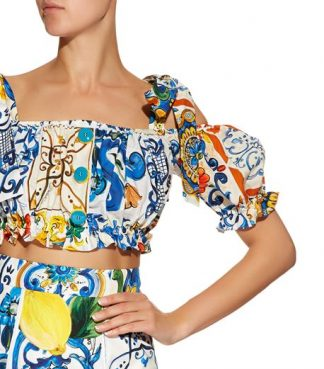 Dolce Gabbana majolica-off-the-shoulder-crop-top