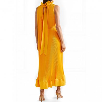 Tibi Yellow Pleated Rent Hire