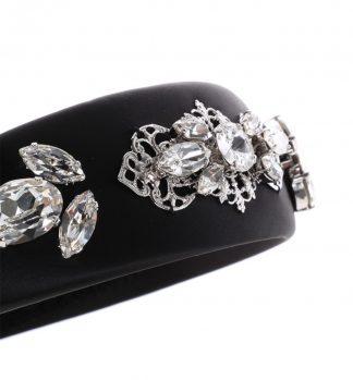 Dolce Gabbana Headband Black Silver Rent Hire Millinery