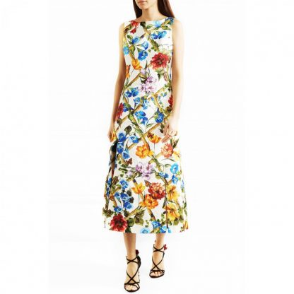 aea5cabb Dolce & Gabbana. Floral Bamboo Print Maxi Dress. Item Photo Item Photo Item  Photo Item Photo