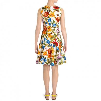 Dolce Gabbana Floral Bamboo Mini Dress Hire Rent
