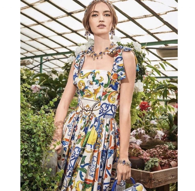 005b46bf4fd Dolce   Gabbana - Majolica - Long Dress