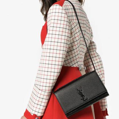 YSL Kate medium black on black saint Laurent rent hire bag