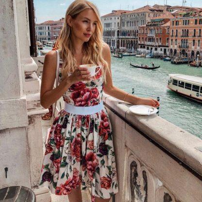 Dolce Gabbana Peony Bustier Top Skirt Hire Rent