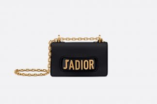 Mini J'Adior bag in black embossed grained calfskin Rent Hire